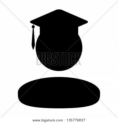 Student Icon - Male Graduation, Academic, Education, Degree, Mortar Board icon in glyph vector illustration