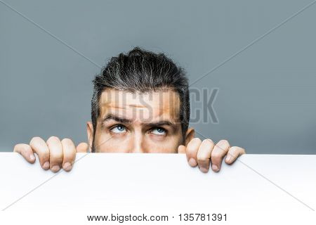 Scared Man With Paper