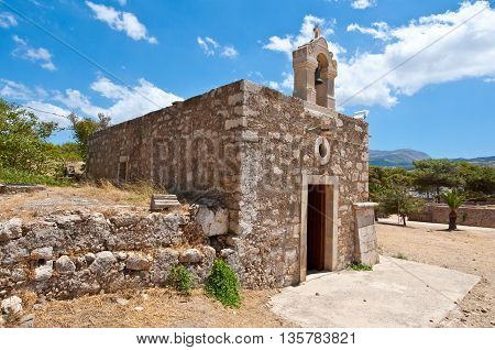 Church of Agia Ekaterini on the island of Crete Greece.