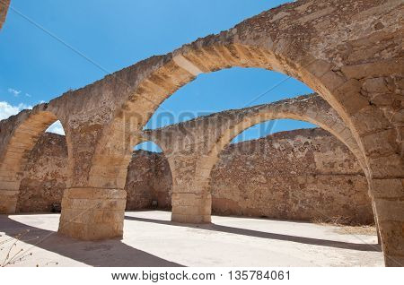Inside the Fortezza of Rethymno city Greece.