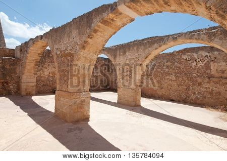 Inside the Fortezza of Rethymno city on the Crete island Greece.