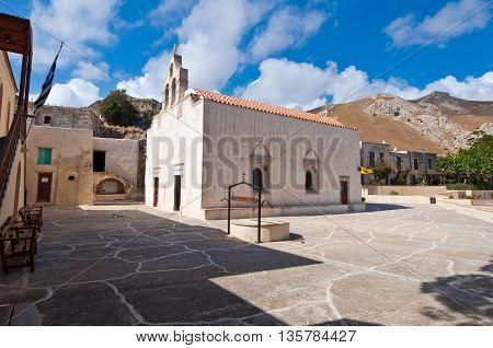 Monastery of Preveli on the Crete island Greece.