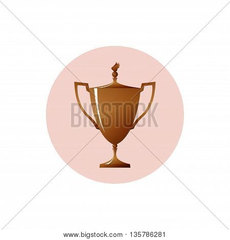 Icon cup of winner, icon bronzed trophy cup