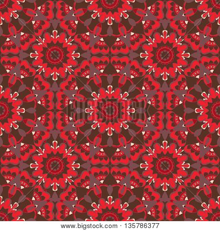 Seamless pattern. Decorative pattern in beautiful bright colors. Vector illustration