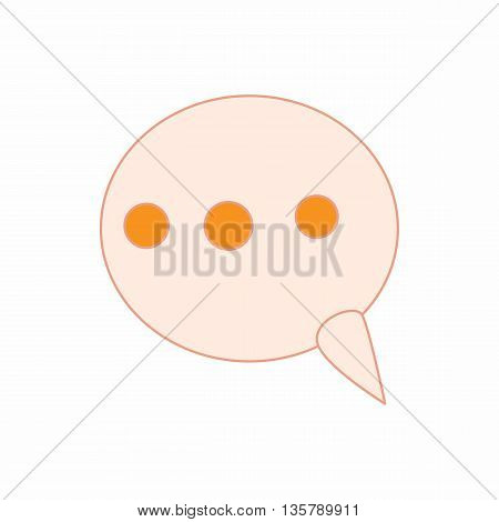 Comment icon in cartoon style isolated on white background. Dialogues symbol