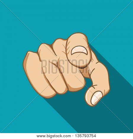 Job interview. Recruitment Hand. Stock vector. Vector illustration.