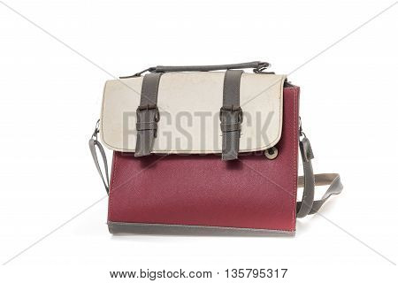 old woman bag on isolate white background