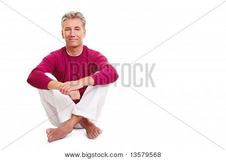Relaxed Senior Man Sitting