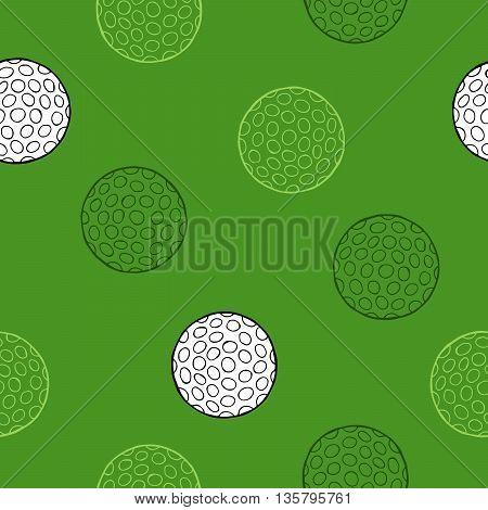 Golf sport white ball graphic art seamless pattern illustration vector