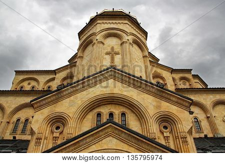 Holy Trinity church in Tbilisi city. Georgia