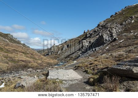 Landscape View of Rocks in Denali National Park