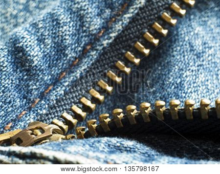Close up to texture of Denim fabric