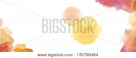 Watercolour Background With Copy Space In Warm Red Earth Tone