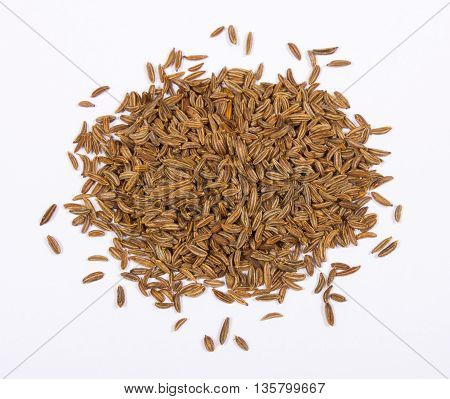 Closeup Of Cumin Seeds.