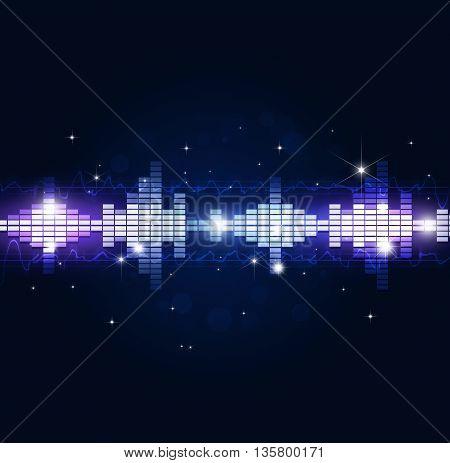 Blue Music Background