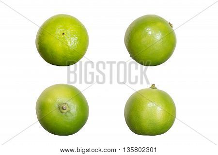 Green Lime Isolated On White Background
