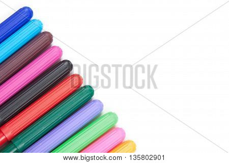 Highlighter Markers Pens Isolated On White Background