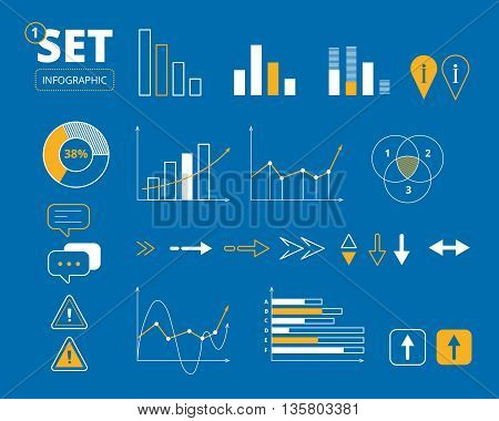 Vector set of business Infographic Elements, wich can be used for your personal design projects, print or web.