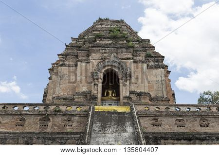 Ancient Buddhism Pagoda In Temple