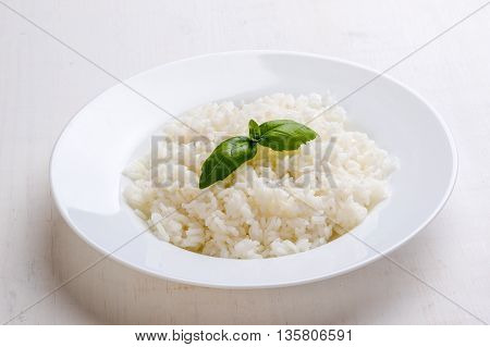 Cooked Rice With Basil