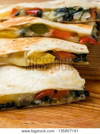 Quesadilla On Wooden Table