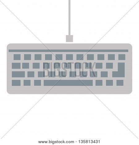 simple flat grey keyboard icon vector illustration