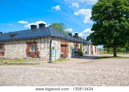 LAPPEENRANTA, FINLAND - JUNE 15, 2016: South Karelia Museum in Lappeenranta Fortress (Villmanstrand). Located in former storehouses for provisions and guns