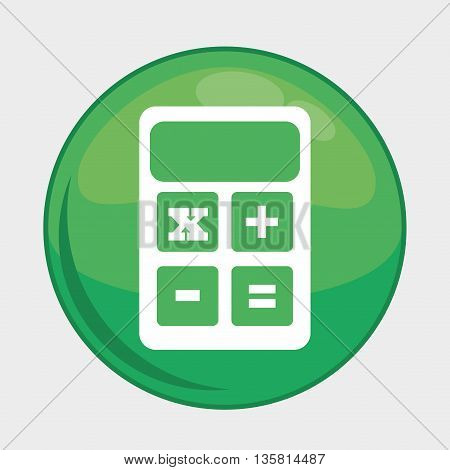 Social Media button represented by calculator multimedia app . Colorfull and isolated illustration