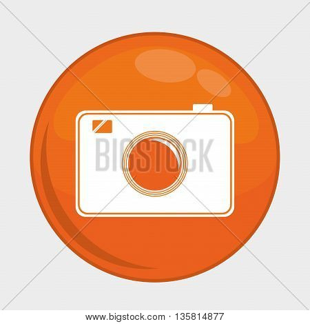 Social Media button represented by camera multimedia app . Colorfull and isolated illustration