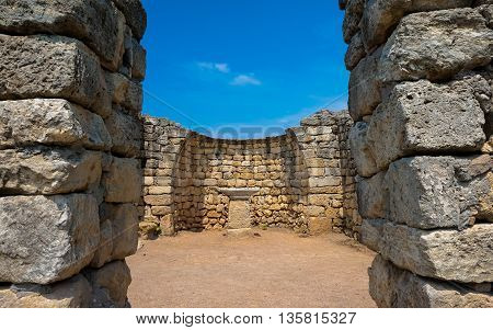 a well-preserved monument of ancient architecture extant