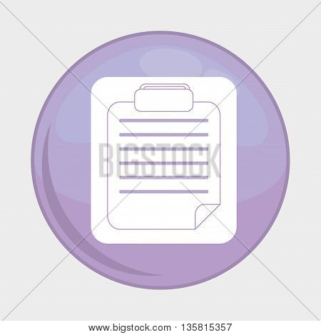 Social Media button represented by document multimedia app . Colorfull and isolated illustration