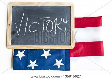 Symbol Of The American Flag Celebrates Victory