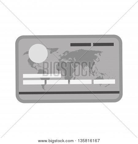 flat design of grey credit or debit card icon vector illustration