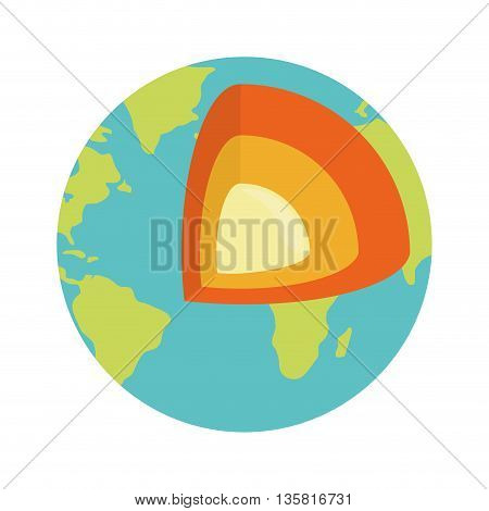 Planet concept represented by earth icon. isolated and flat illustration