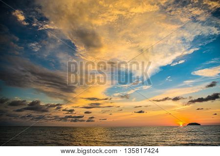 an impressive sunset. a unique image clarity an unforgettable landscape