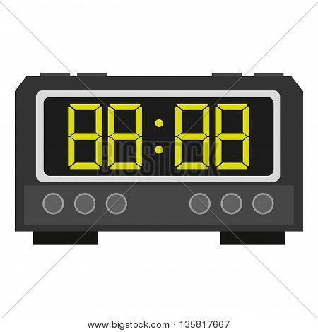 colored flat design digital alarm clock icon vector illustration