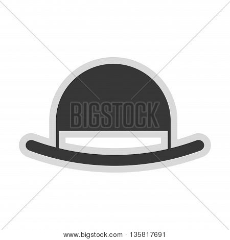 simple flat design of vintage hat vector illustration