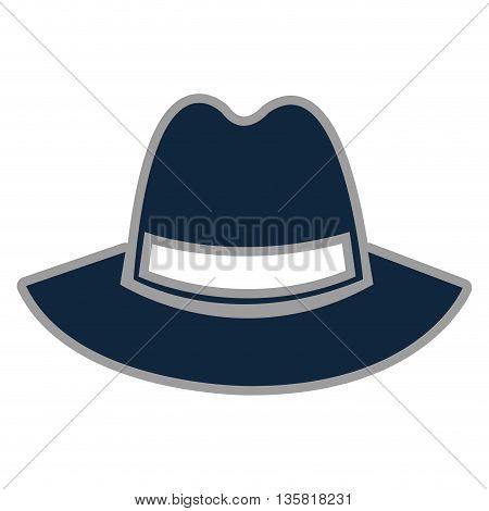 blue simple flat design of vintage hat vector illustration