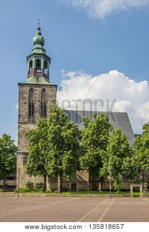 Old Church At The Market Square In Nordhorn