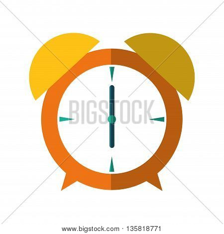 Time concept represented by clock icon. isolated and flat illustration