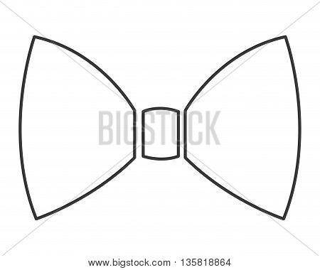 simple black line bowtie icon vector illustration