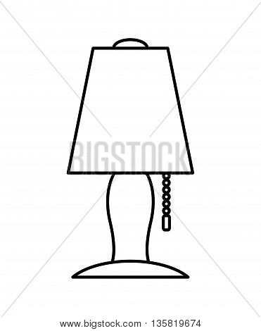 Home object concept represented by lamp icon. isolated and flat illustration