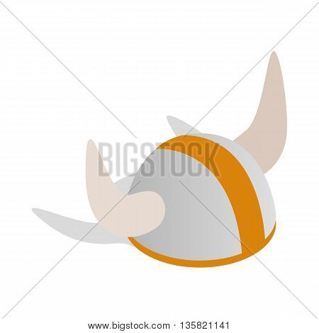 Swedish viking helmet icon in isometric 3d style on a white background