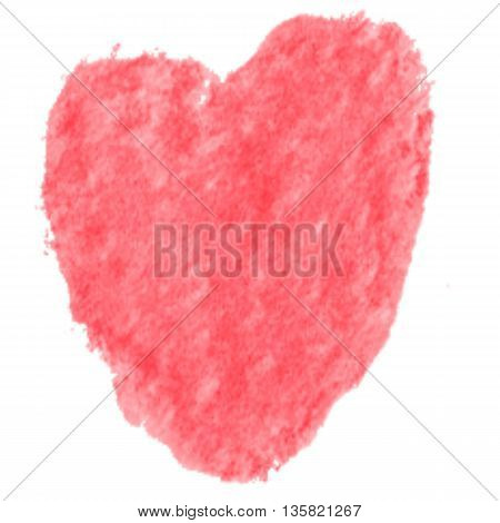Red Heart brushes in for using in water color brush on art rough paper type.Heart brushes set for valentine day or symbol of heart in love.Heart water color background or sticker symbol of love