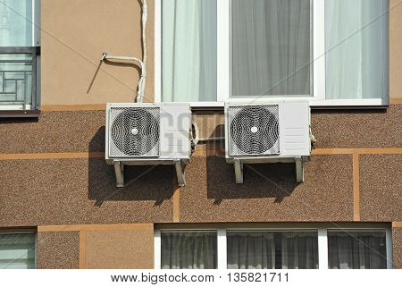 Air conditioning and ventilation systems with pipe
