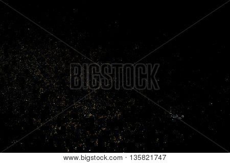 Retro Photo Effect On A Black Background