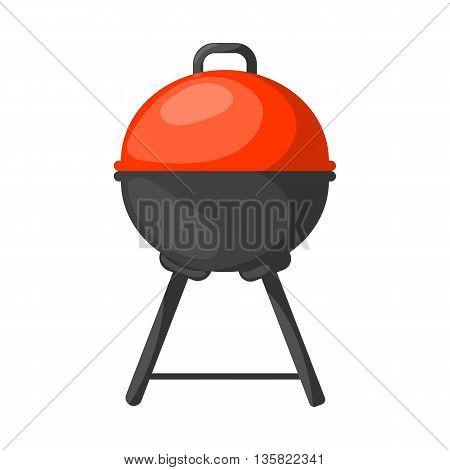Vector Black Bbq Grill Icon