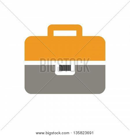 This is bag icon with orange and grey color.