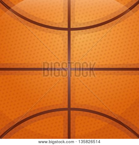 Basketball concept represented by ball background. colorfull and flat illustration