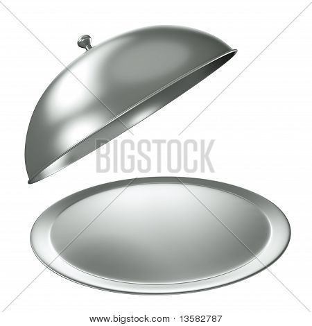 Silver catering tray